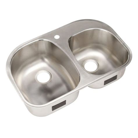 Sterling Stainless Steel Kitchen Sinks by Sterling Cinch Undermount Stainless Steel 32 In 1