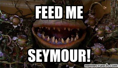 Feed Me Seymour Meme - tepid drama derrick proves once more that she is the