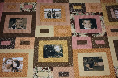 Custom Photo Quilts by Customized Photo Quilt Anniversary Birthday Quilt Wedding