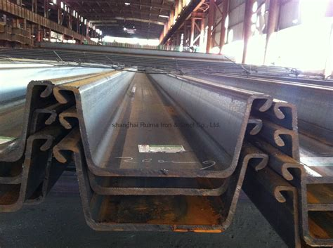 Best Quality Prewalker 170 top quality rolled steel sheet pile against low price 400 170 15 5mm ruima china
