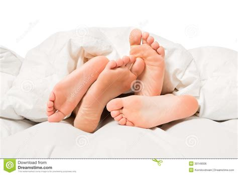 Feet In A Bed Royalty Free Stock Image Image 30149006