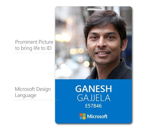 Microsoft Id Card Brand Design Pinterest Microsoft Identity Branding And Brand Design Employee Id Card Template Microsoft Word
