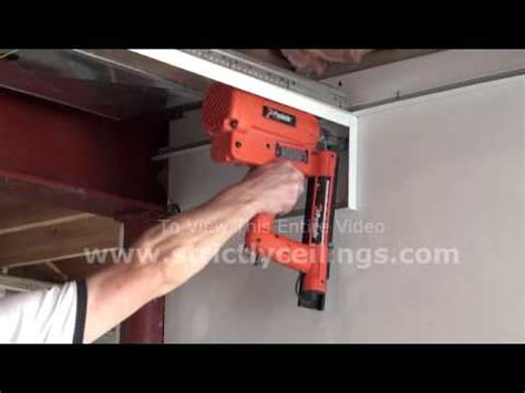 how to install a suspended ceiling wall angle