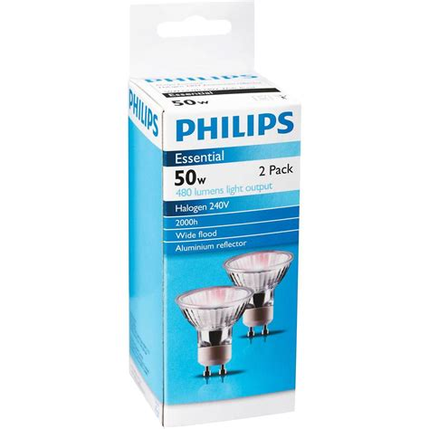 Lu Downlight Halogen 50w philips halogen gu10 downlight 50w 60degree 2pk 2pk
