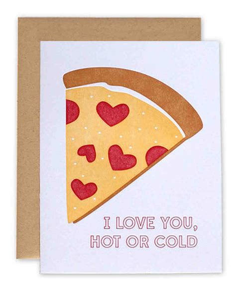 pizza valentines card template 30 hilarious s day cards martha stewart weddings