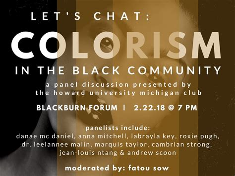 colorism in the black community let s chat colorism in the black community howard calendar