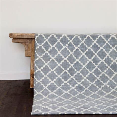 tapis one tapis scandinave en coton lav 233 gris 140x200cm tell