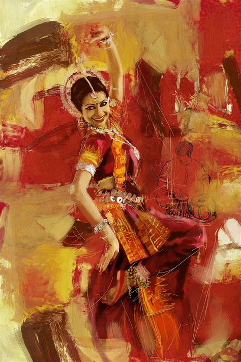 biography of indian classical artist kathak dancer 6 painting by corporate art task force