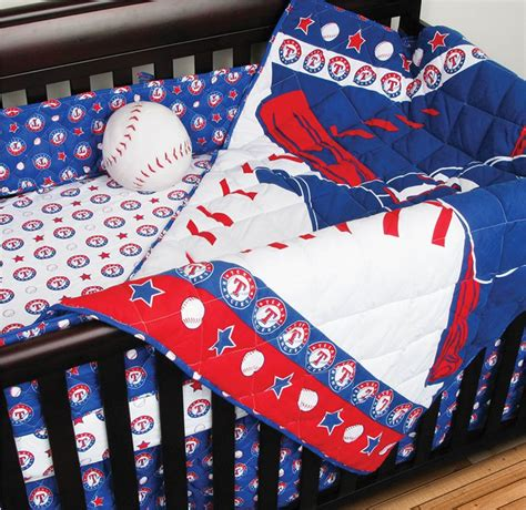 baseball baby bedding mlb texas rangers crib bedding 4pc baseball baby quilt bed in bag
