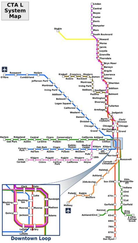 line map chicago chicago el map line charts maps and infographics