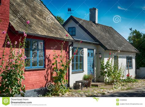 Colorful Cabins by Colorful Cottages Stock Photo Image Of Homes Tranquility 51839352