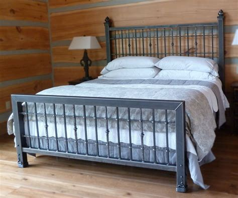 iron king size bed frame hand crafted iron king size bed by desiron custom metal