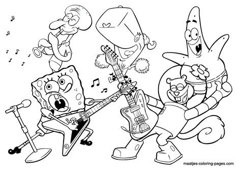 band free coloring pages