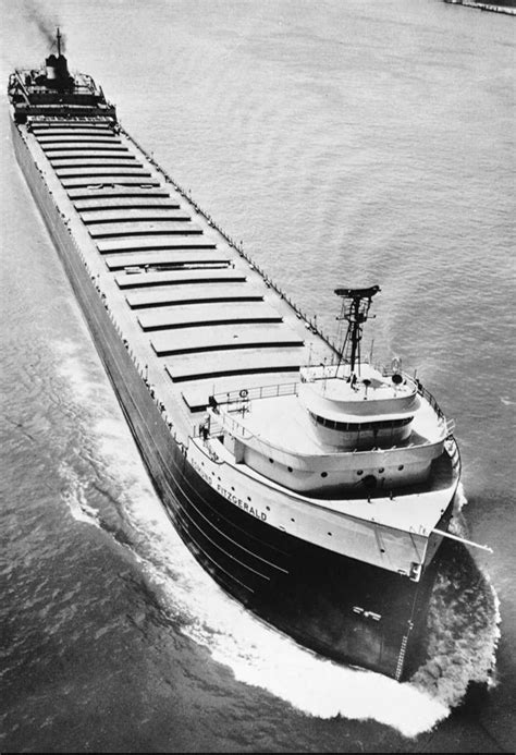 Largest Ship To Sink In The Great Lakes by The Edmund Fitzgerald On One Of Its Many Trips On The