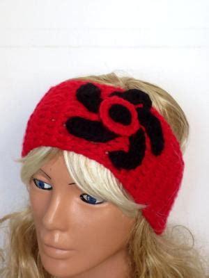 Wide Knit Band crochet flower band oversized ear warmer wide knitted