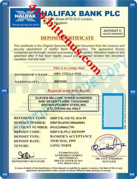 nat west bank plc bank certificate deposit sle image collections