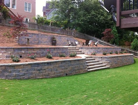 retaining wall to level backyard retaining walls add style to a home
