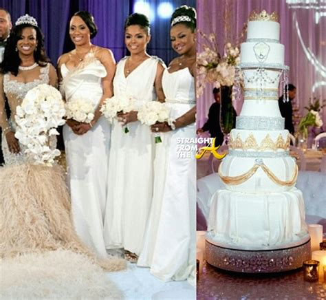 kandi burruss wears 20000 wedding dress in first photos kandi wedding cake
