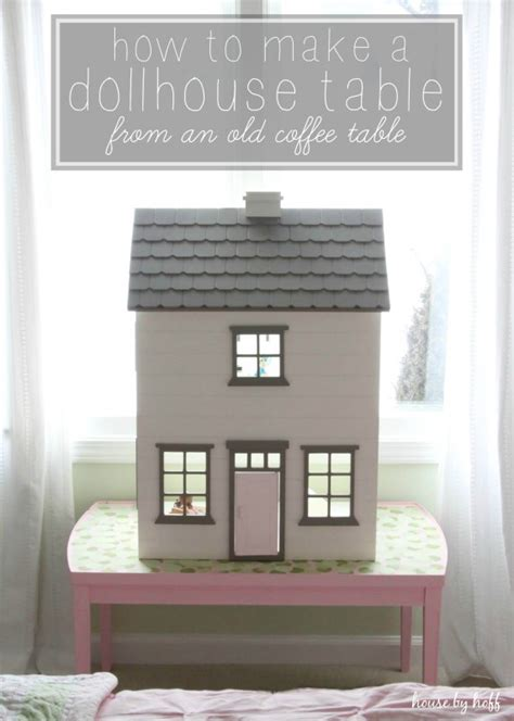 dollhouse table how to make a dollhouse table from an coffee table