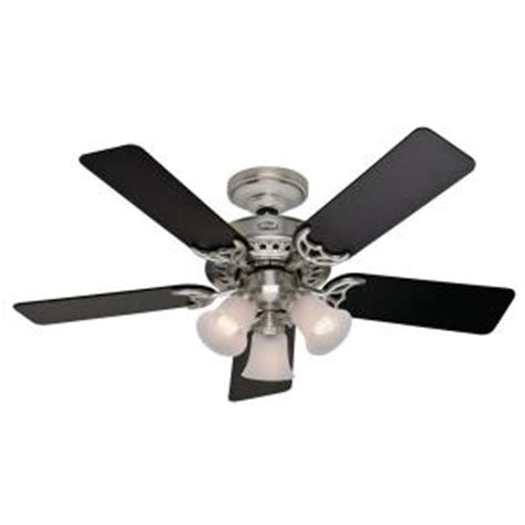 home depot small ceiling fans stonington 46 in brushed nickel ceiling fan 21362