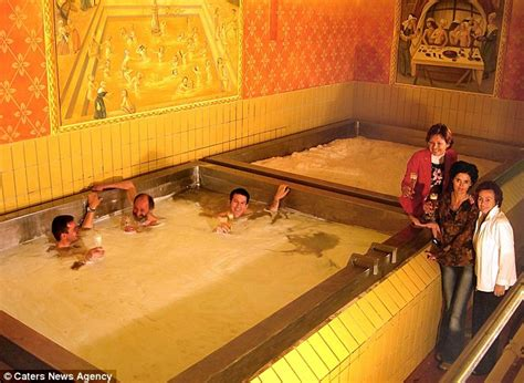 giant bathtub schloss starkenberger in austria offers guests bath in