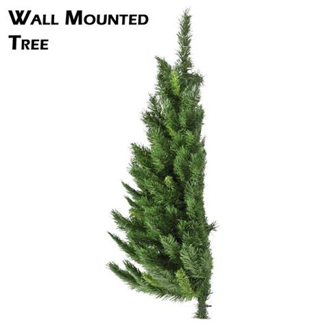 artificial wall mounted half christmas tree restricted