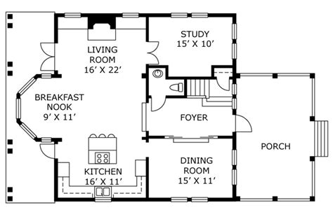bay window floor plan house floor plans