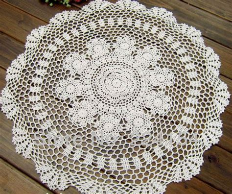 white tablecloth pattern 23 quot inches 60cm round crochet tablecloth white round