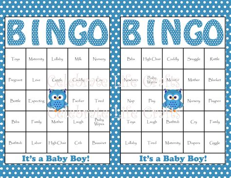 free baby shower bingo template 8 best images of 50 free printable baby shower bingo cards