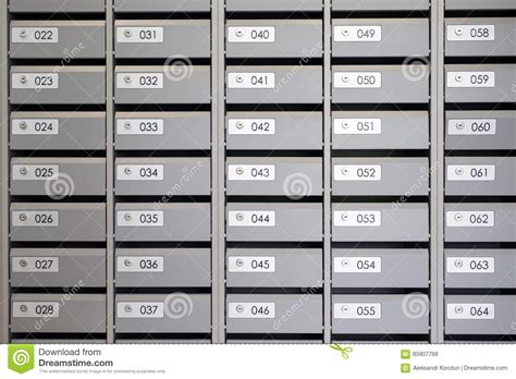 Appartment Number by Mailboxes In The Apartment With The Numbers Stock Photo
