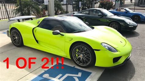porsche 918 acid green salomondrin s acid green 918 spyder youtube