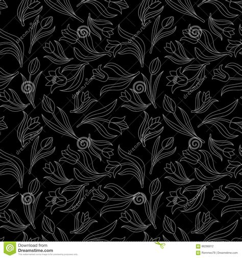 seamless pattern white vintage seamless black and white floral pattern vector