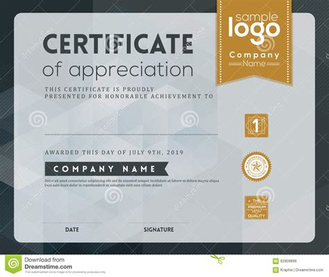 modern certificate template modern certificate frame design template stock vector