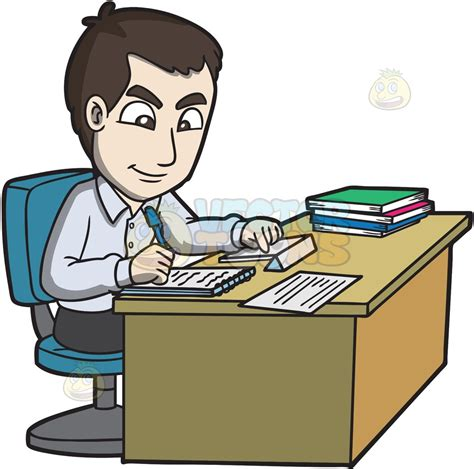 office clip a office worker taking notes clipart by vector