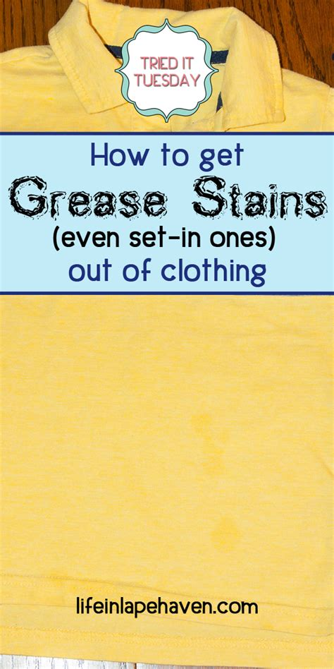 How To Get A Stain Out Of A by How To Get Grease Stains Even Set In Ones Out Of Clothing