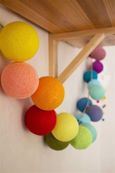 cotton ball string lights gu tworzy cotton ball lights lichtb 228 lle cotton ball