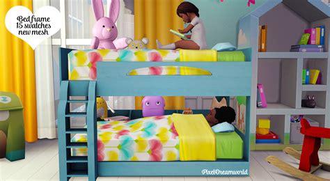 sims 4 bunk beds pixeldreamworld