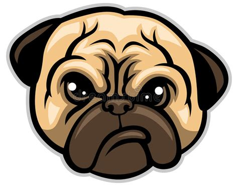 do pugs bark cabe 231 a de c 227 o do pug ilustra 231 227 o do vetor imagem de bark 46367679