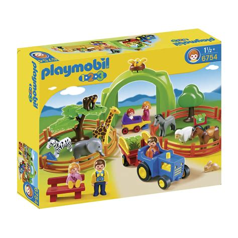 Playmobil Large Zoo playmobil 123 large zoo 6754 163 45 00 hamleys for toys