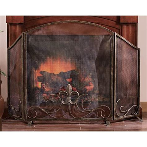 spi home decor fleur de lis fireplace screen spi home screens fireplace