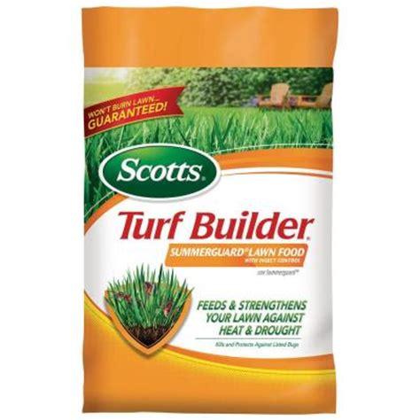 Home Depot Fertilizer by Scotts 15 000 Sq Ft Turf Builder With Summerguard Fertilizer