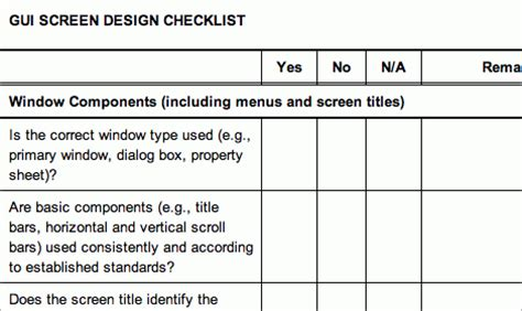 usability review template 45 incredibly useful web design checklists and questionnaires