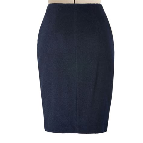 wool blend blue pencil skirt elizabeth s custom skirts