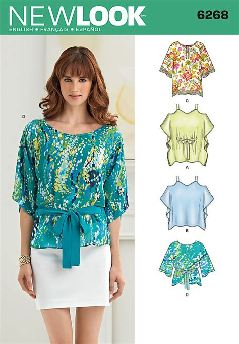 pattern review best patterns 2014 new look 6268 misses tunics and tops