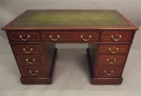 Pedestal Desks by Edwardian Mahogany Pedestal Desk 255427