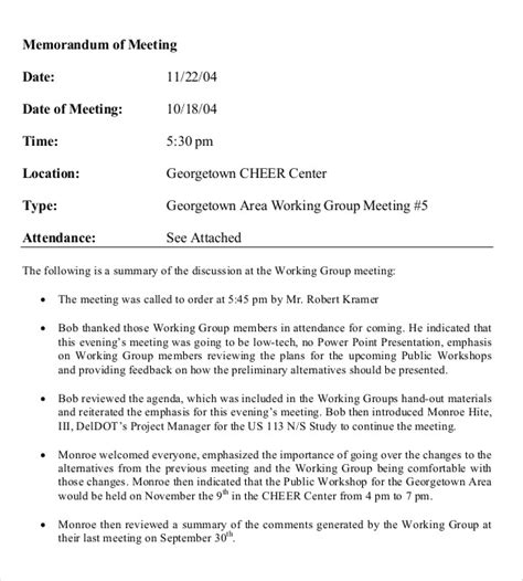 meeting memo template meeting memo template 18 free word pdf documents