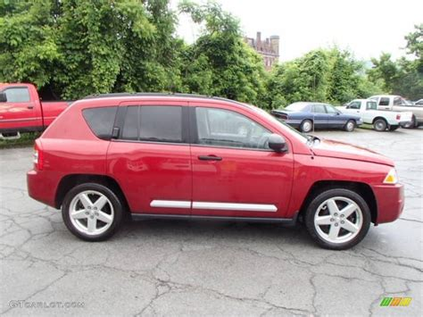 red jeep compass 2007 inferno red crystal pearlcoat jeep compass limited