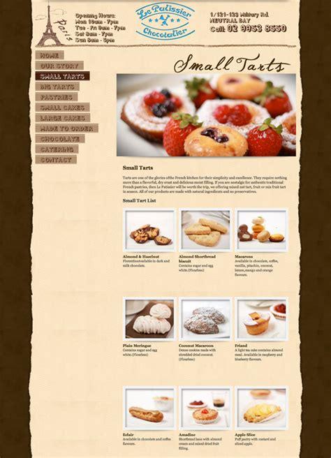 Fab Site Daszigncom by Website Design For Le Patissier Chocolatier Gt Fab Web Design