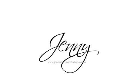 jenny name tattoo designs