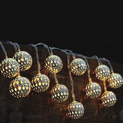 New Set Of 10 Solar Led Lights Moroccan Globe Lanterns Solar Globe String Lights Outdoor
